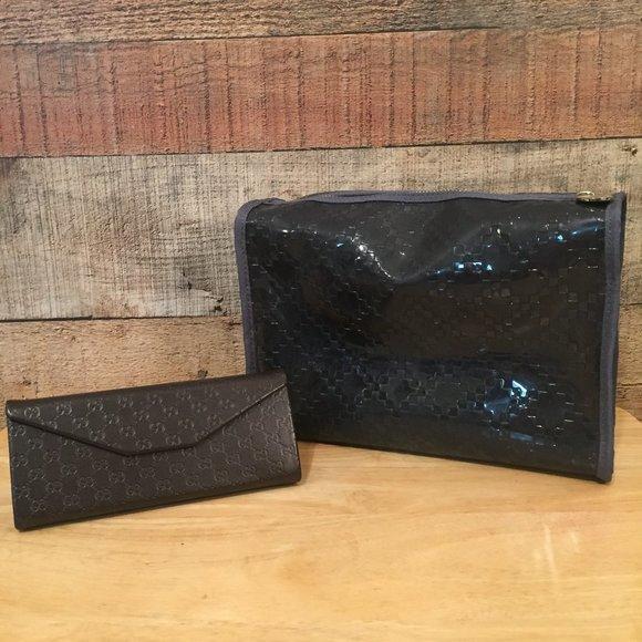 Gucci Toiletries Bag & Glasses Case Bundle